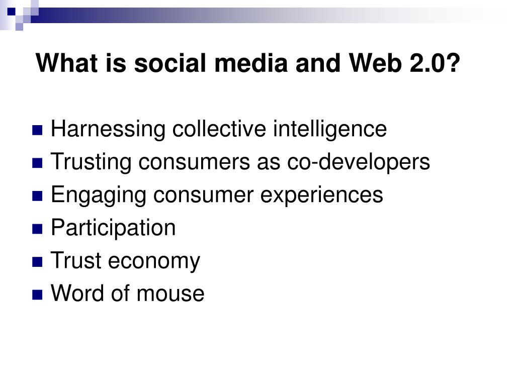What is social media and Web 2.0?