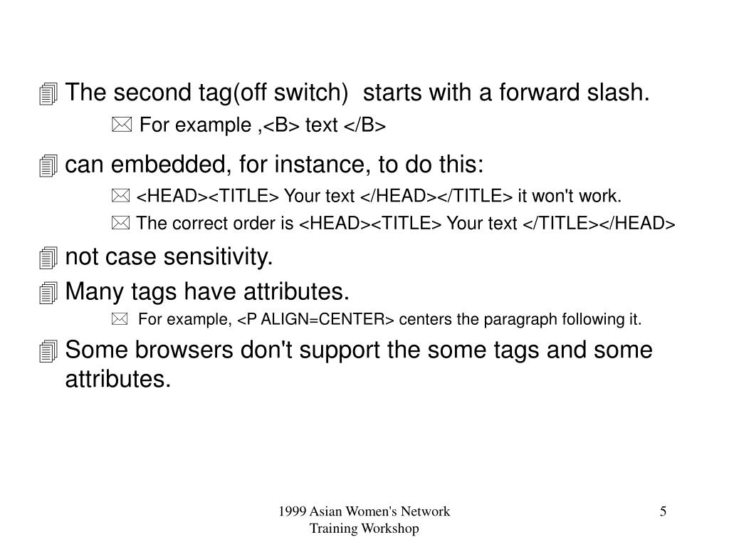 The second tag(off switch)  starts with a forward slash.