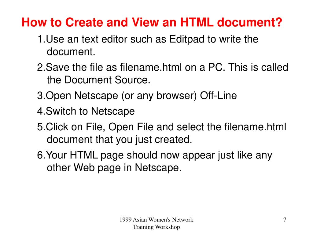 How to Create and View an HTML document?