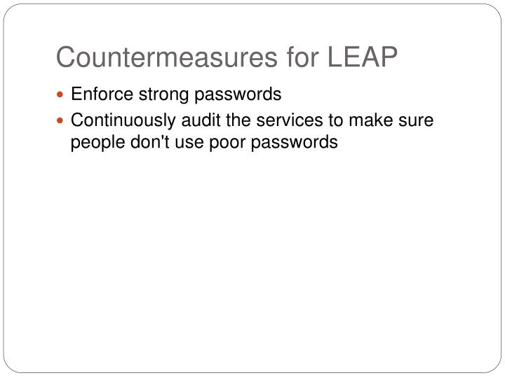 Countermeasures for LEAP