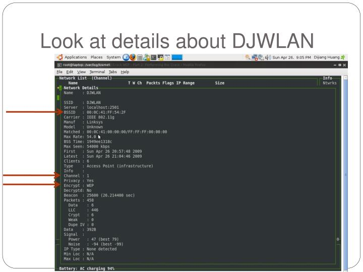 Look at details about DJWLAN