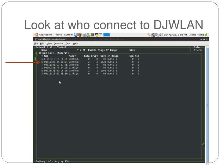 Look at who connect to DJWLAN