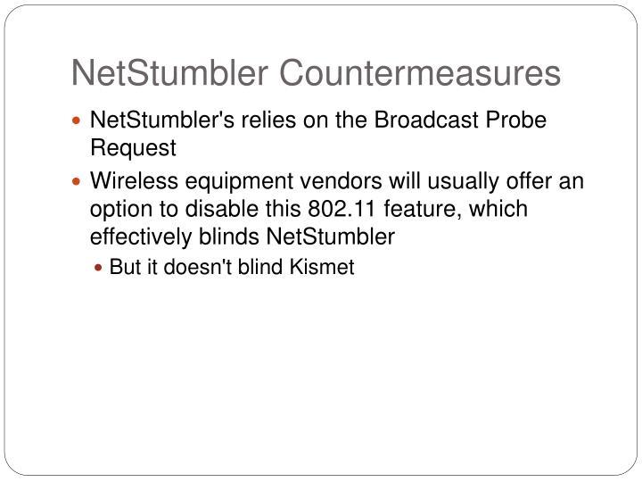 NetStumbler Countermeasures