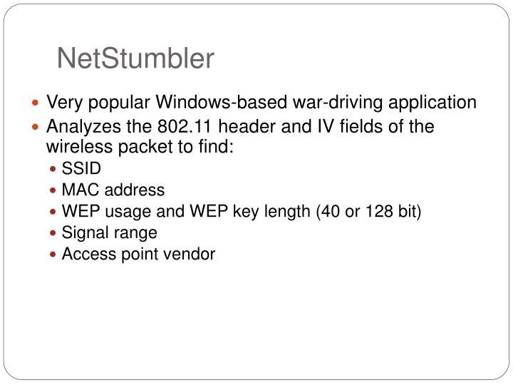 NetStumbler