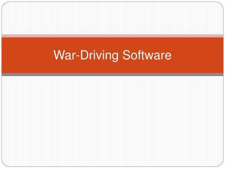 War-Driving Software
