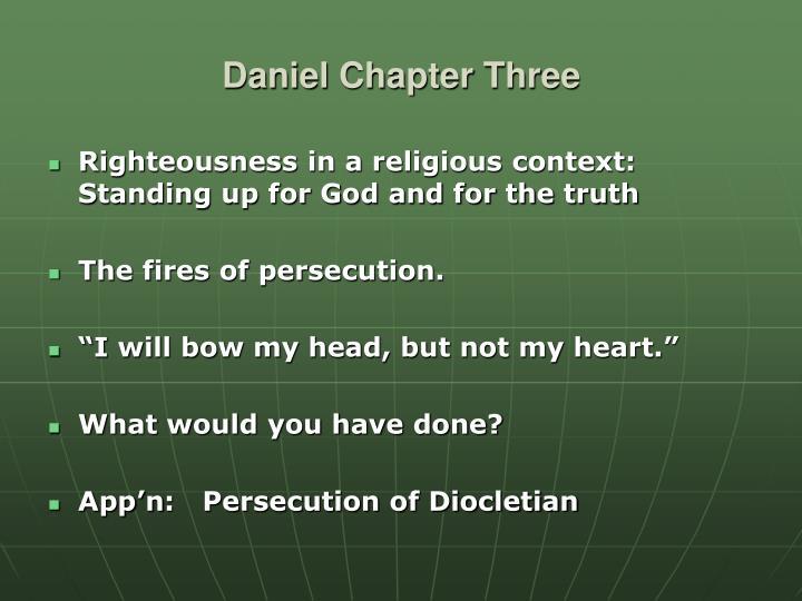 Daniel Chapter Three