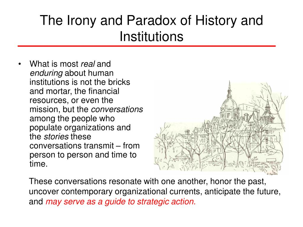 The Irony and Paradox of History and Institutions
