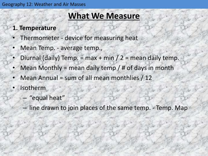 What We Measure