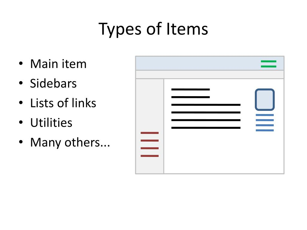 Types of Items