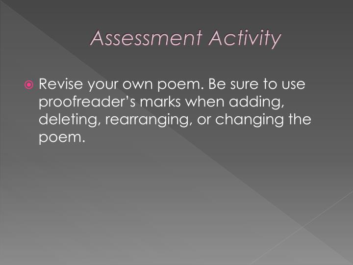 Assessment Activity