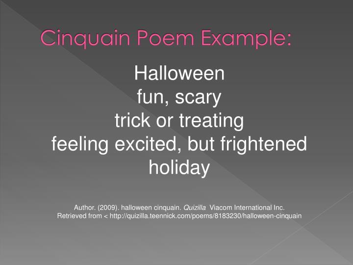 Cinquain Poem Example: