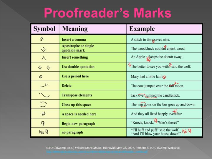 Proofreader's Marks