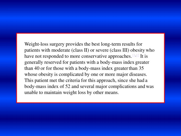 Weight-loss surgery provides the best long-term results for