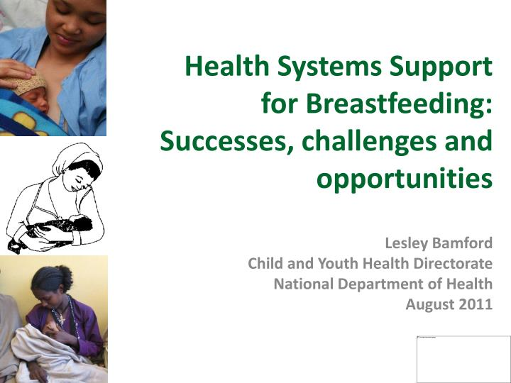 Health Systems Support for Breastfeeding: