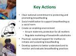 key actions
