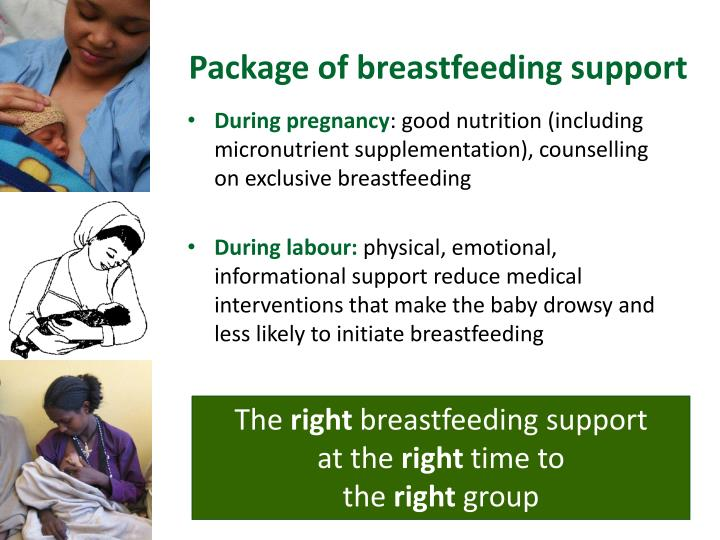 Package of breastfeeding support