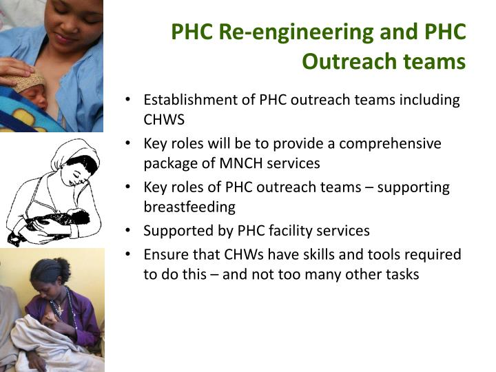 PHC Re-engineering and PHC Outreach teams