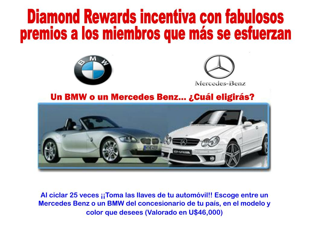 Diamond Rewards incentiva con fabulosos