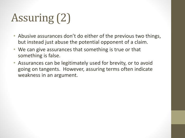 Assuring (2)