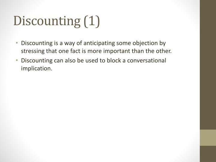 Discounting (1)