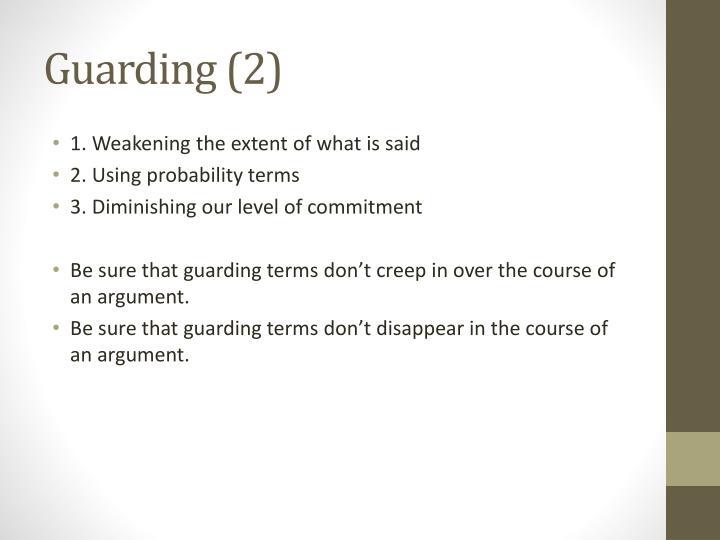 Guarding (2)