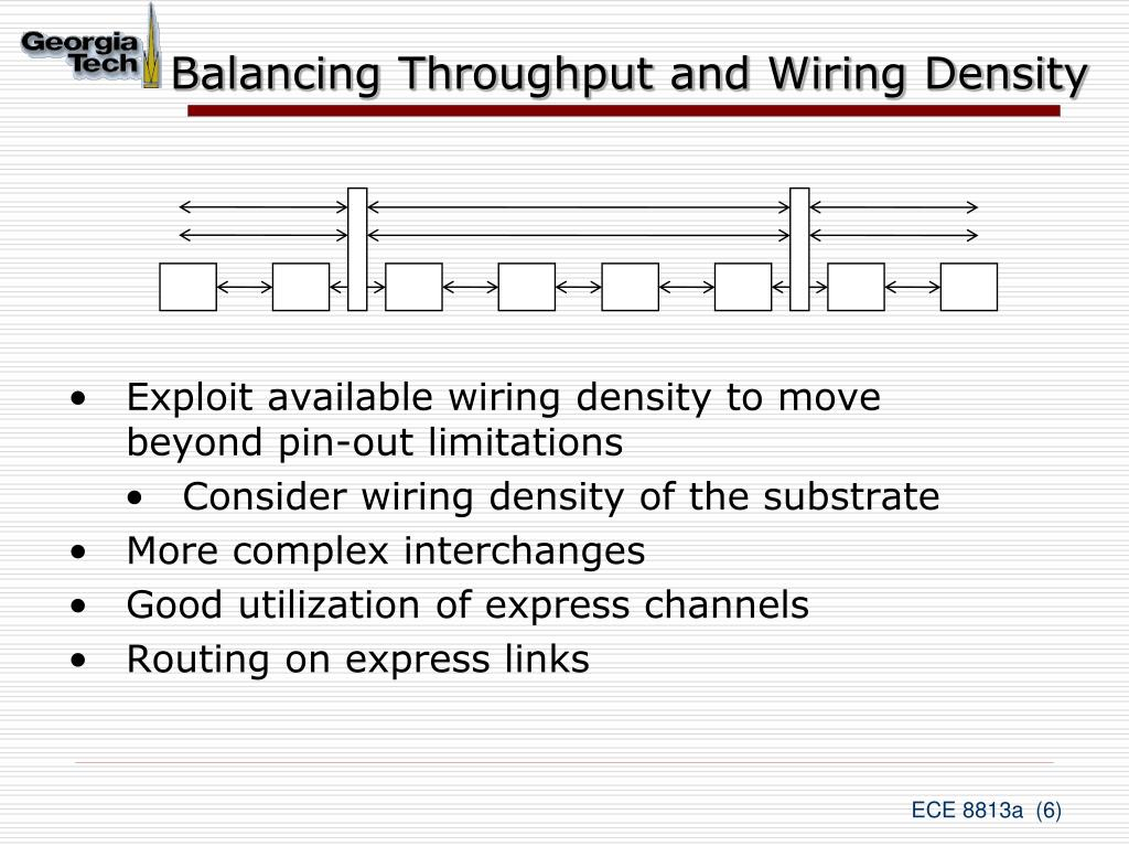 Balancing Throughput and Wiring Density