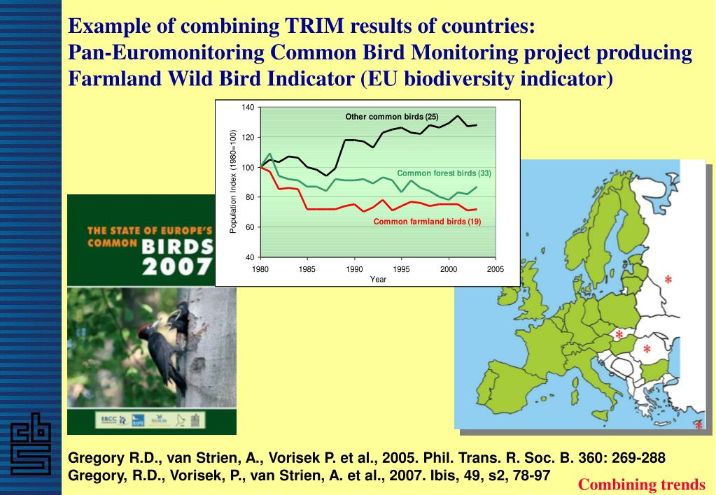 Example of combining TRIM results of countries: