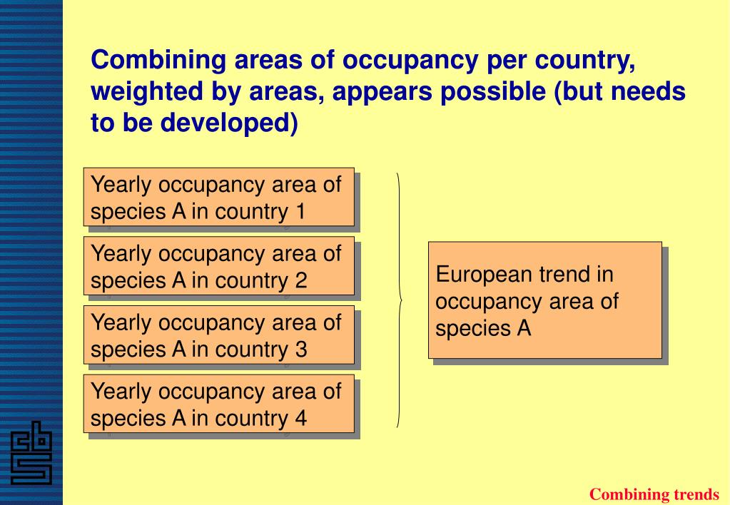 Combining areas of occupancy per country, weighted by areas, appears possible (but needs to be developed)