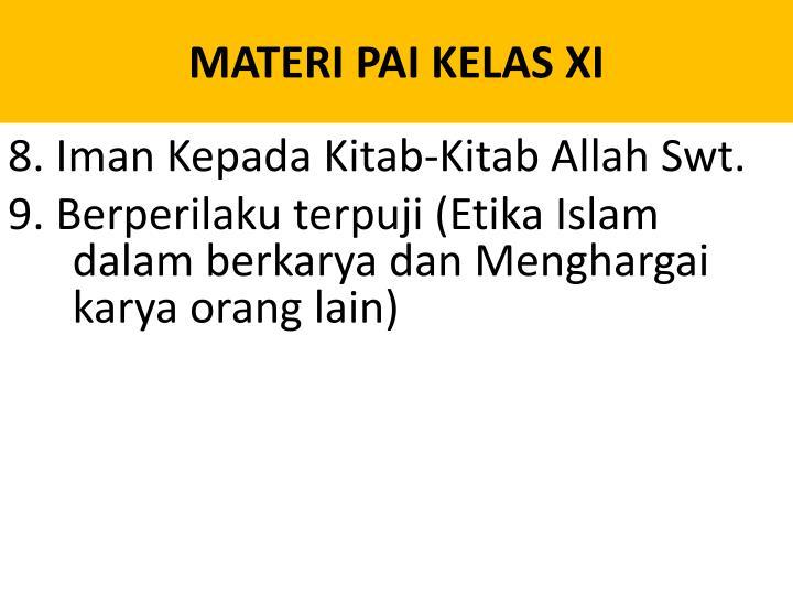 MATERI PAI KELAS XI
