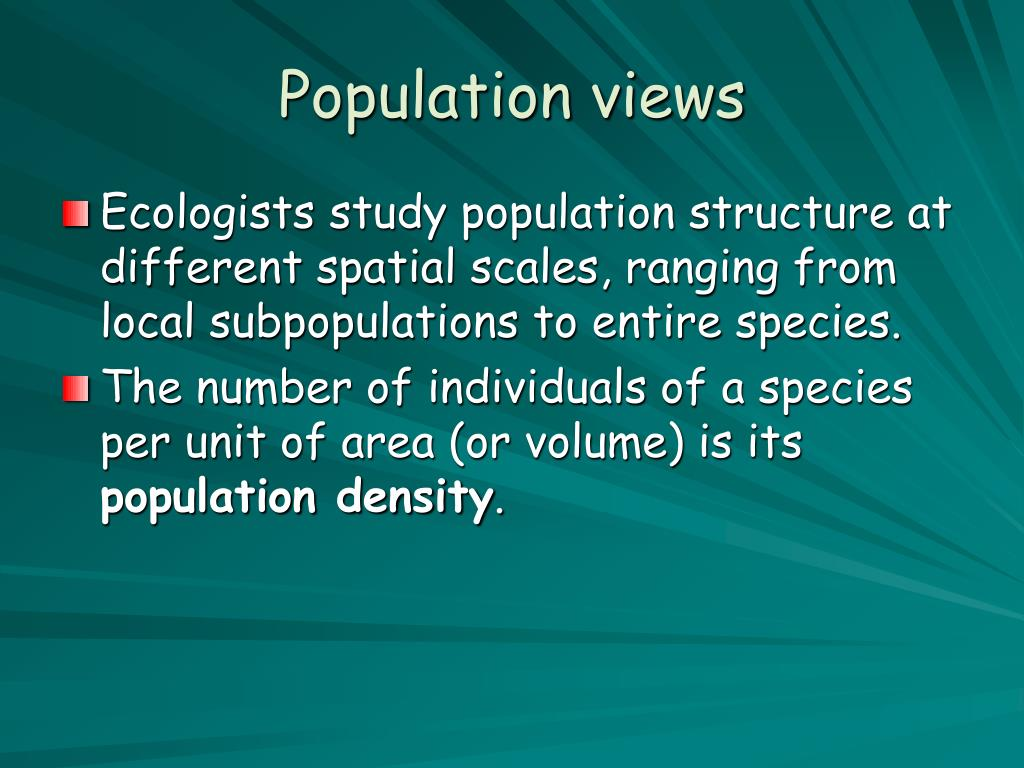 Population views