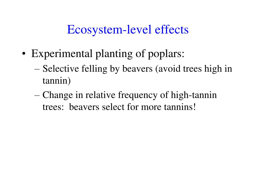 Ecosystem-level effects