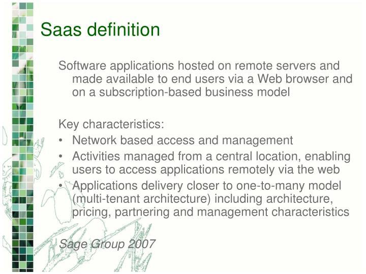 Saas definition
