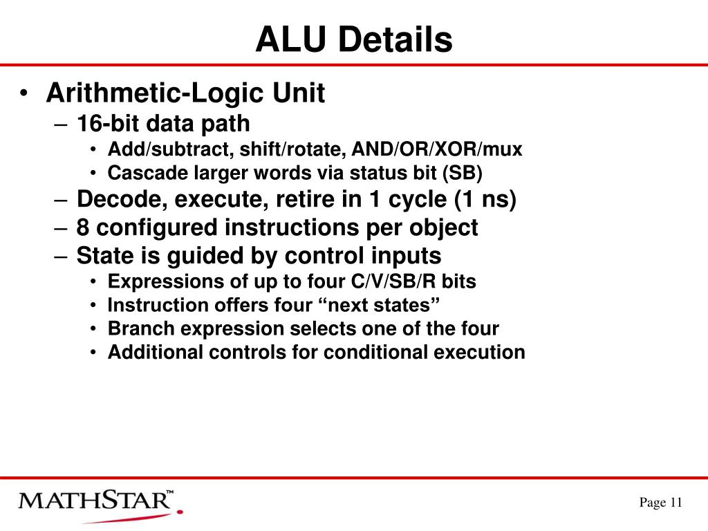 ALU Details