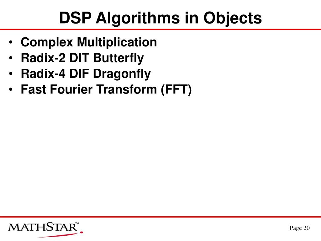 DSP Algorithms in Objects