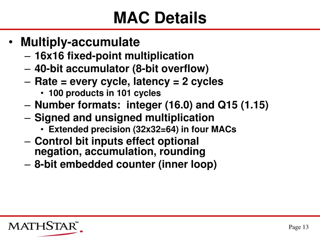MAC Details