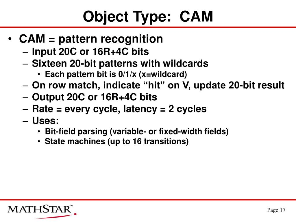 Object Type:  CAM