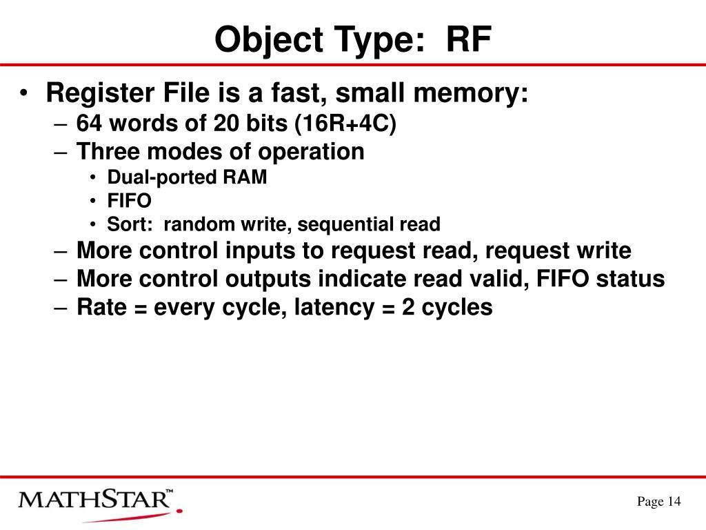 Object Type:  RF