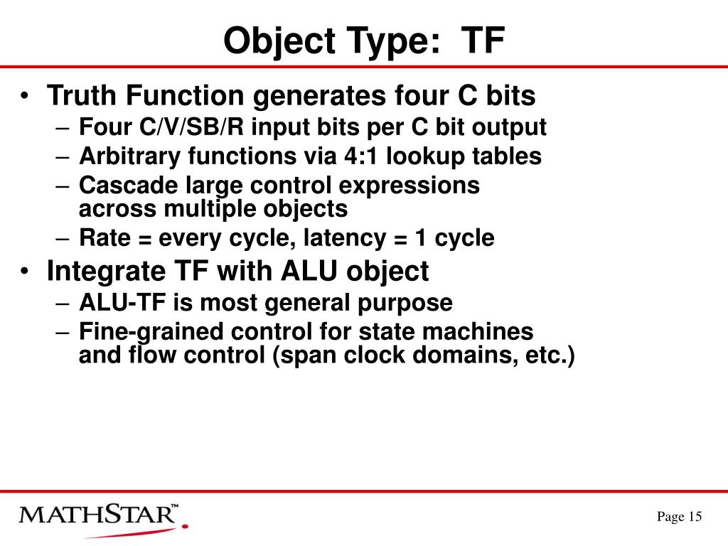 Object Type:  TF
