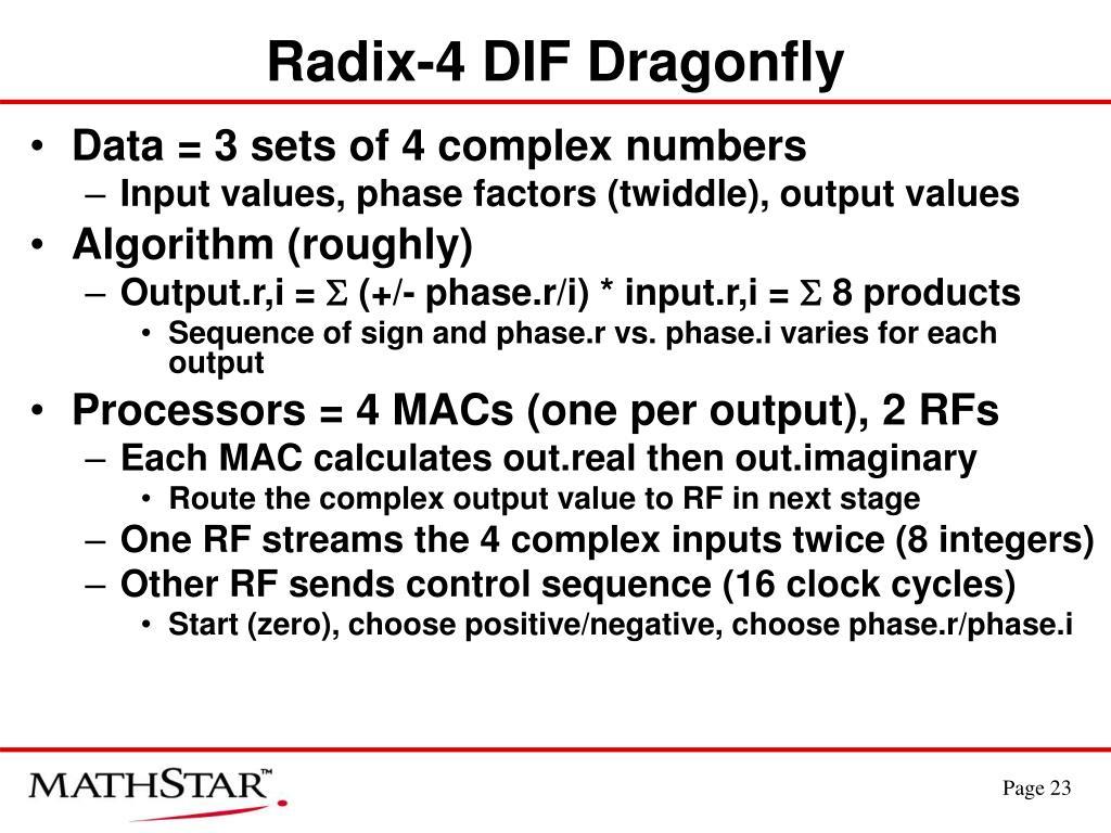 Radix-4 DIF Dragonfly