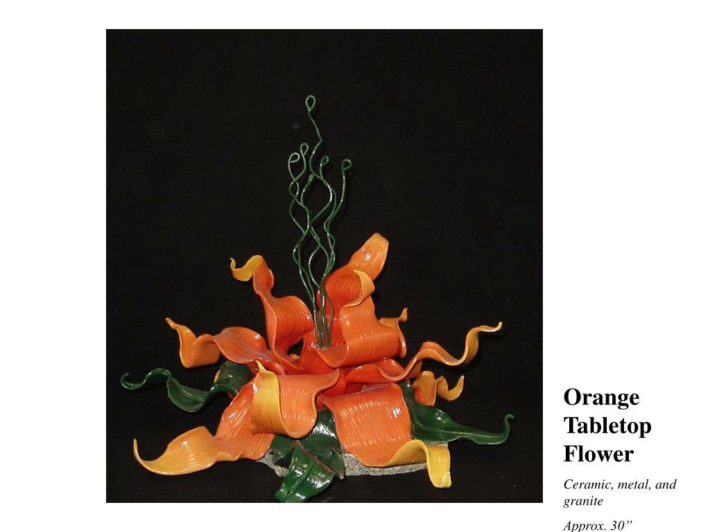 Orange Tabletop Flower