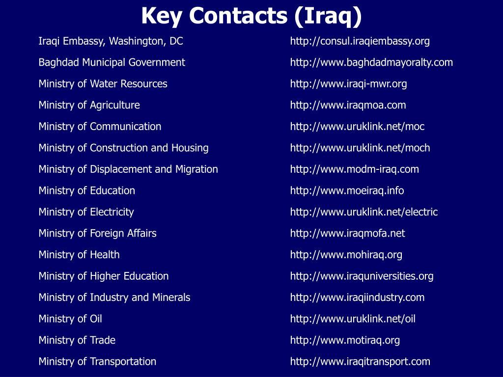 Iraqi Embassy, Washington, DChttp://consul.iraqiembassy.org