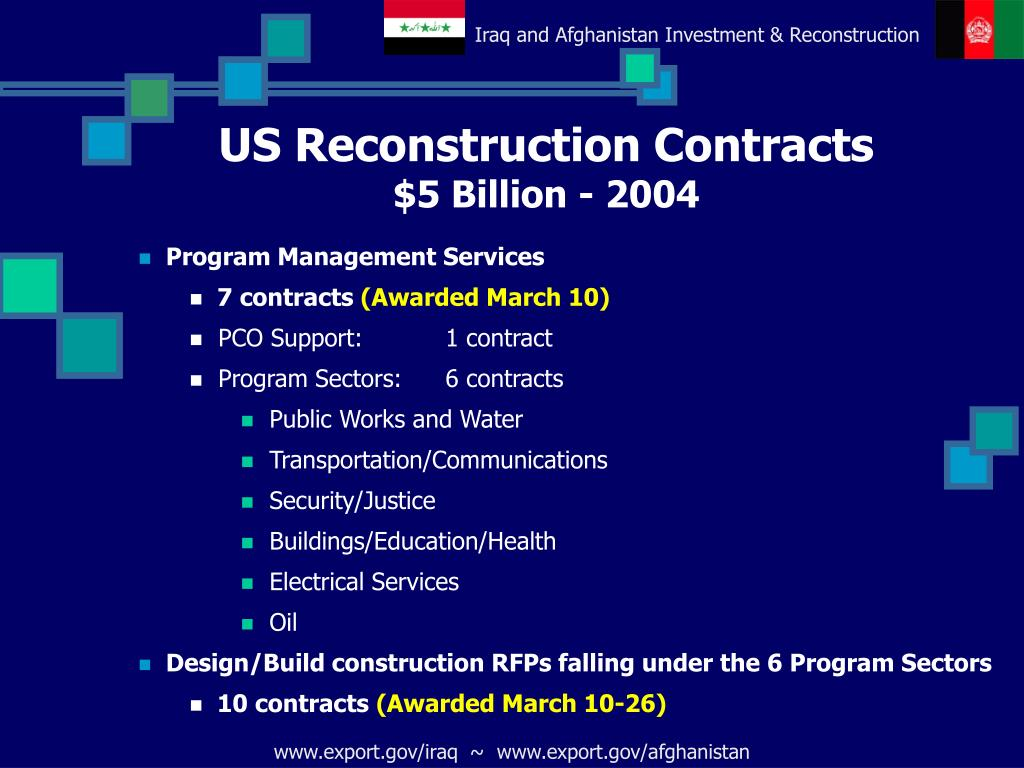 US Reconstruction Contracts