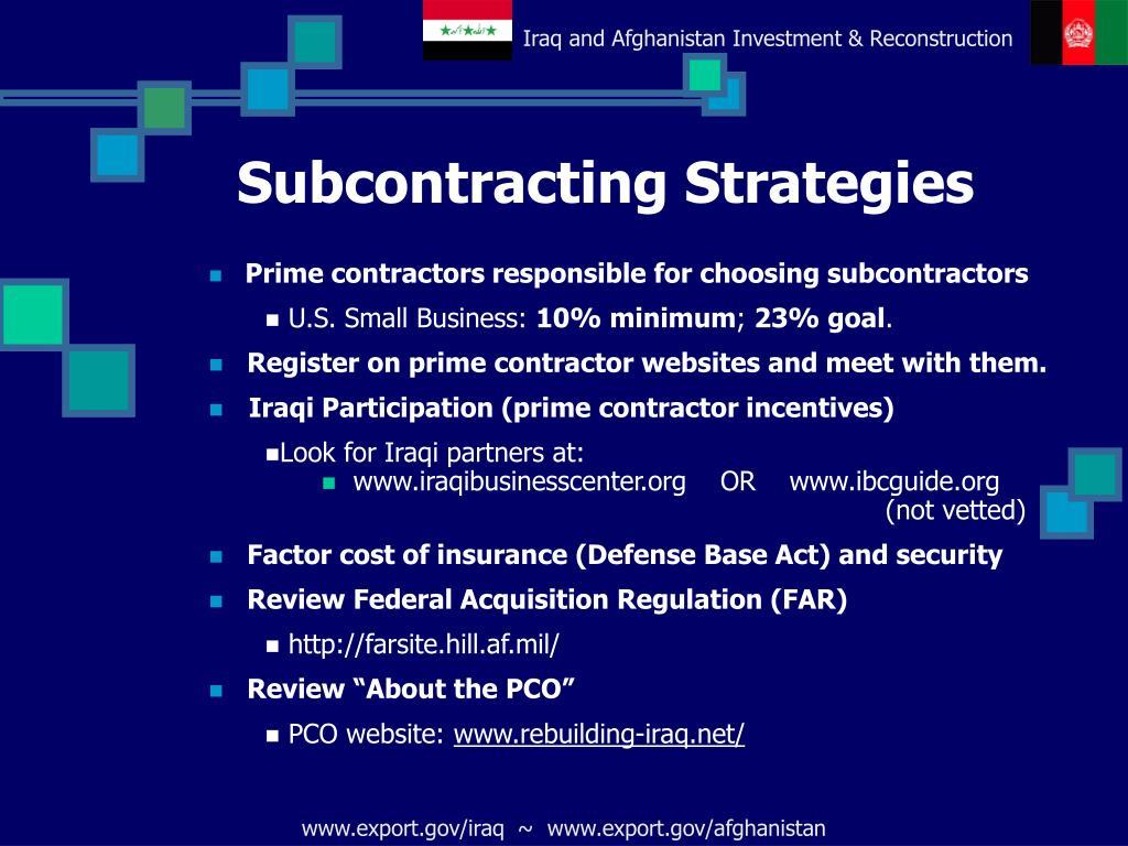 Subcontracting Strategies