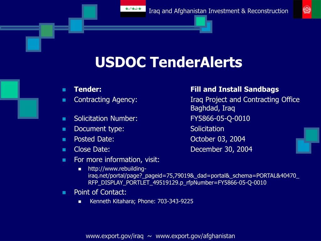 USDOC TenderAlerts