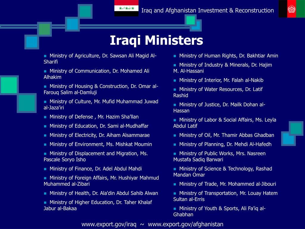 Iraqi Ministers