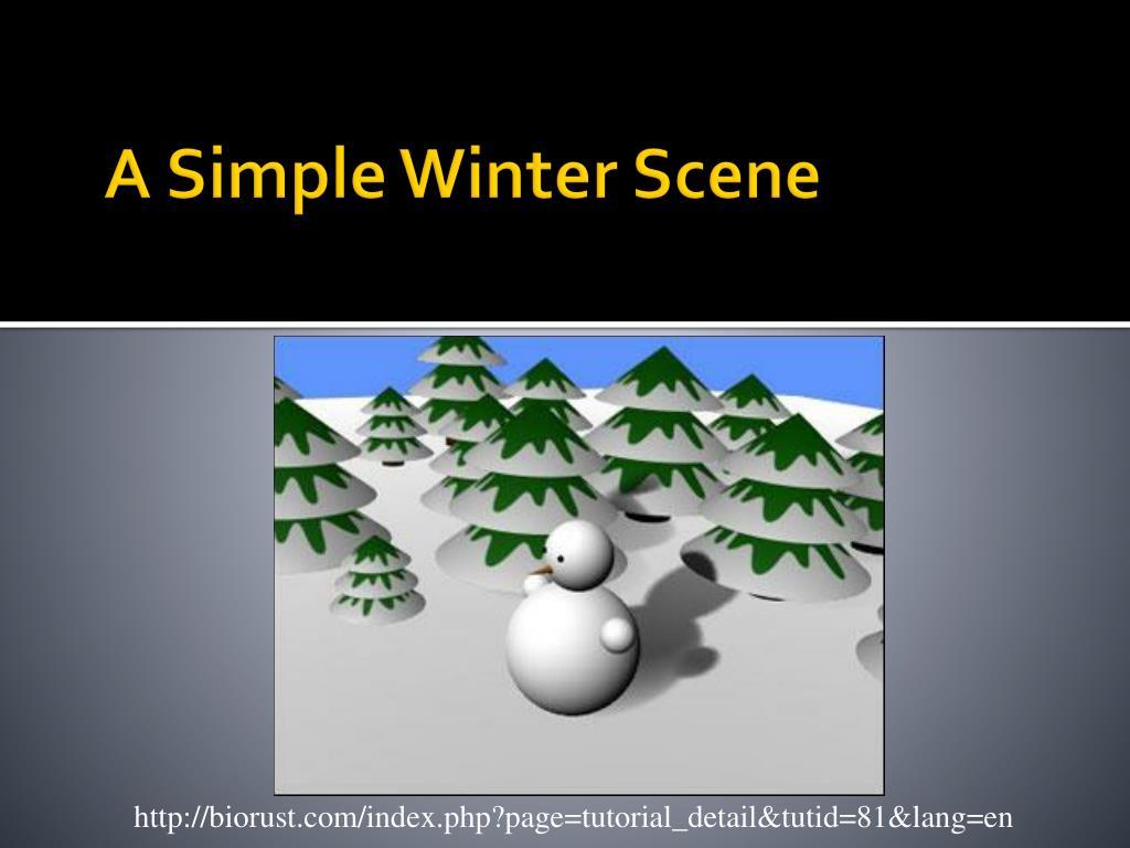 A Simple Winter Scene
