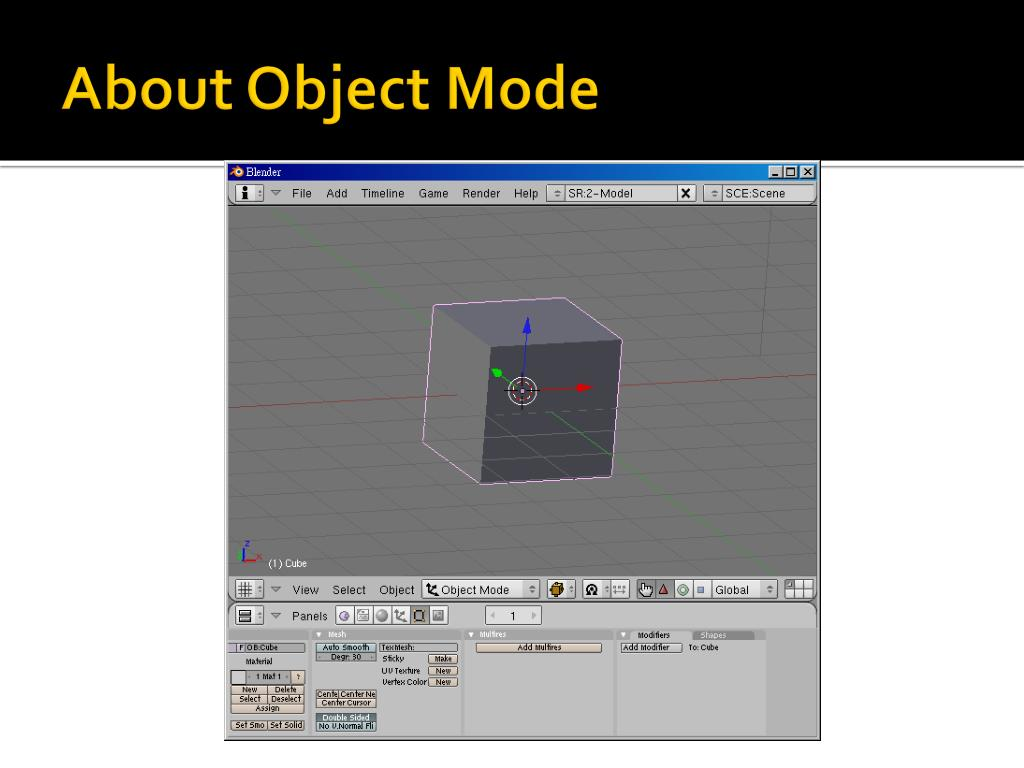 About Object Mode