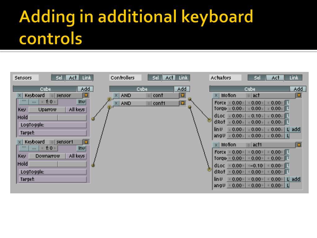 Adding in additional keyboard controls