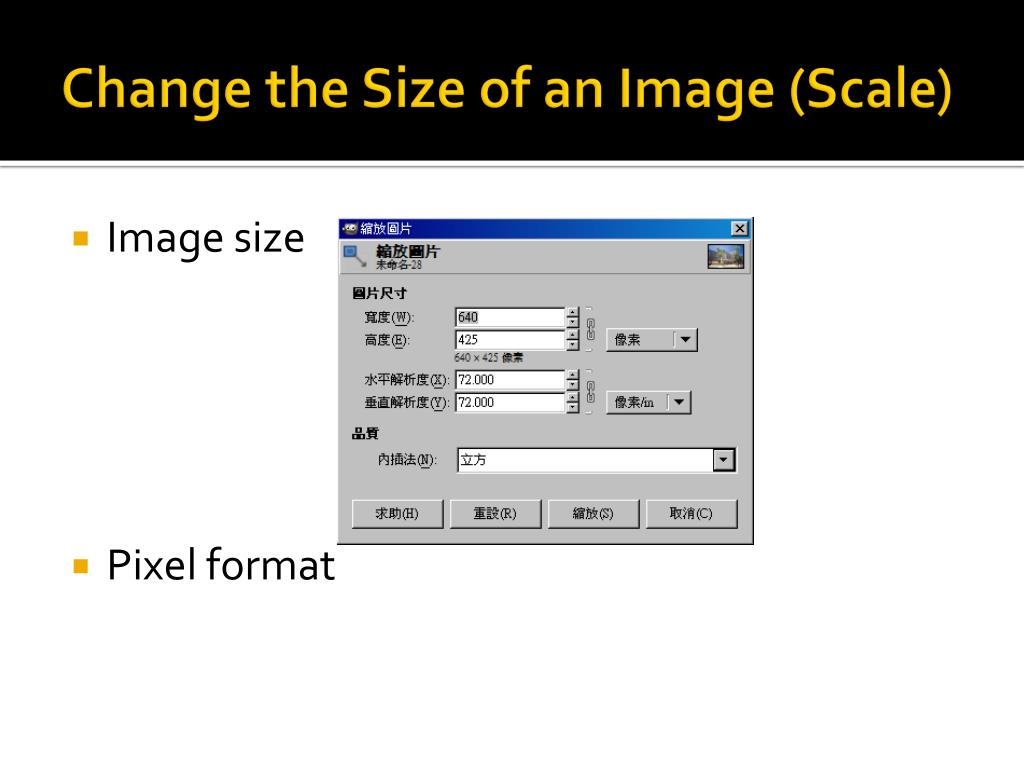 Change the Size of an Image (Scale)