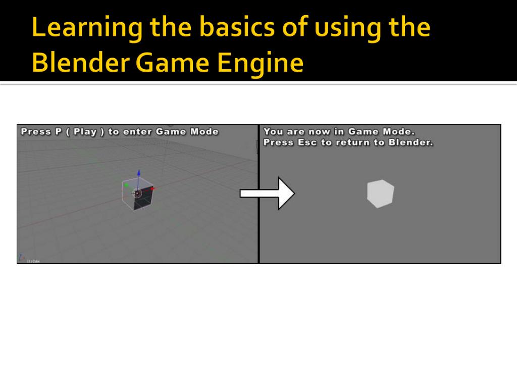 Learning the basics of using the Blender Game Engine